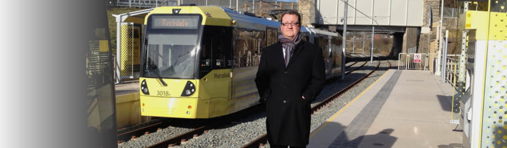 At the tram line – Rochdale will benefit greatly from better transport connections