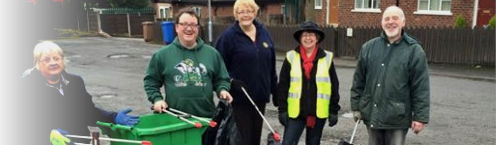 Litter picking with local residents