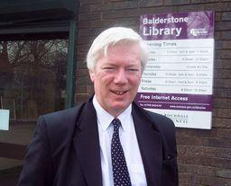 Paul outside Balderstone Library.