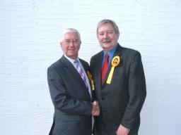 Councillor Alan Taylor with his Colleague - Brian Ashworth