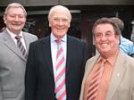 Councillor Taylor with Peter Rush and Sir Menzies Campbell
