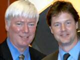 Paul Rowen MP with Leader of the Liberal Democrats Nick Clegg MP.