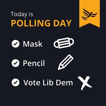 Polling day (Liberal Democrats)